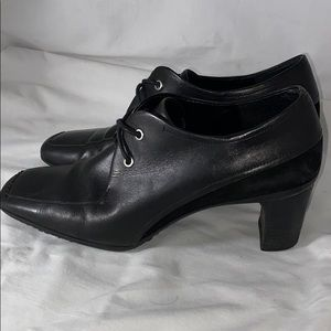 Rockport Black leather Heels Size 8